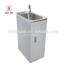 Dissipador da lavanderia do aço inoxidável com armário 30L / 38L / 45L / 2 * 45L