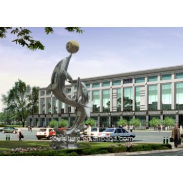 Escultura moderna de los artes abstractos grandes del acero inoxidable para la decoración al aire libre