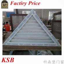 60 series UPVC triangle louver window