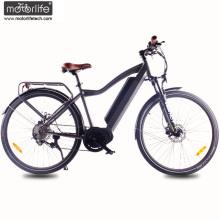 Bicicleta eléctrica del nuevo diseño 36v350w con la batería ocultada, bicicleta eléctrica de la montaña del mediados de drive 8fun, ebike