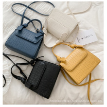 New Bag Women 2020 Korean Version Portable Crocodile Pattern Single Shoulder Bags Fashion Hand Small Square Lady Bag