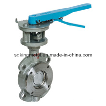 Metal to Metal Sealing PTFE Seat Flange End Butterfly Valves