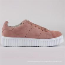 Zapatos de mujer Gamuza de vaca / Zapatos de cuero Zapatos casuales Snc-65002-Pnk