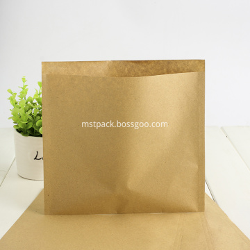 Compostable 3 Sided Seal Kraft Saco De Papel