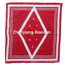 Custom Made Logo impreso algodón promocional grande pañuelo cabeza bufanda