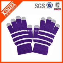 Invierno acrílico llano thinsulate guantes tejidos