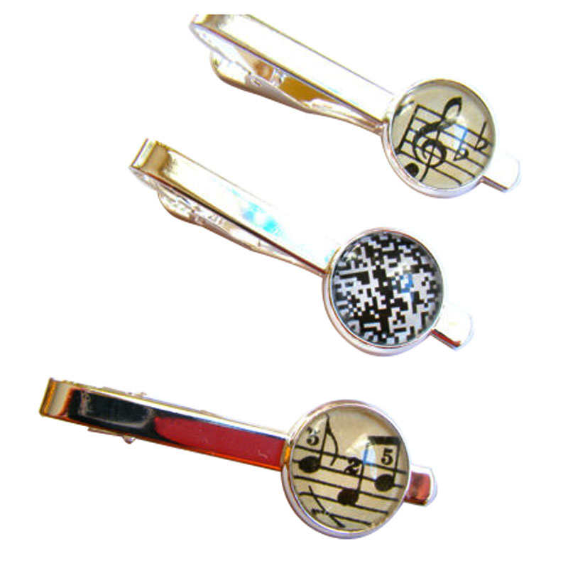 Metallica Tie Bar Clip With Domed Effect