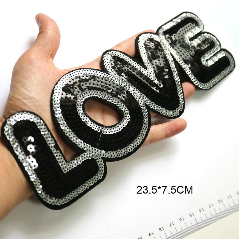 Black Embroidery Applique