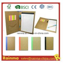 Caderno de arquivo de papel com etiquetas de planejadores coloridos671