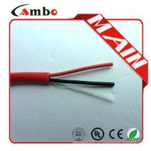 Высококачественный 1000-футовый красный FPL FPLR cctv 2 core Bare Copper fire guard cable