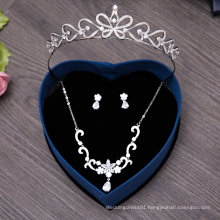 High Quality Zircon Necklace Earring Hair Crown for Bride Wedding