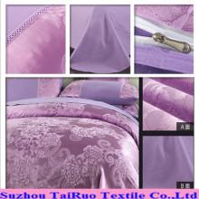 Disperse la sábana de la tela de satén de seda Jacquard