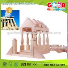 EZ1089 110pcs 3 tableros de la aduana embroma el bloque de madera natural