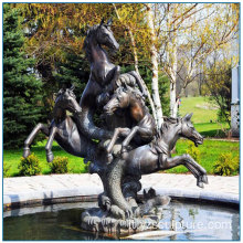 Statua di cavallo bronze decorativo all'aperto Fontana