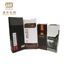 Fabrik-Großhandel Nahrungsmittelgrad kundengebundene Aluminiumfolie-Viererkabel-Dichtungs-Seitenkeil-Verpackentaschen für trockene Kaffeebohnen