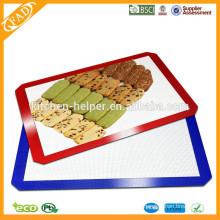 China fabricante FDA LFGB Aprobado Grado Alimenticio Resistente al Calor Antiadherente Premium Quality Silicone Baking Mat