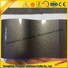Perfil de alumínio personalizado da extrusão da cor da electroforese para decorações