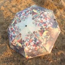 Flower impressão 3-Folding guarda-chuva (BD-24)