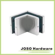 Cobertura de aço inoxidável escovado Patch de paralelo de vidro a vidro de 90 graus