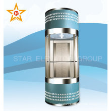 Quality sightseeing elevator glass lift for shopping mall