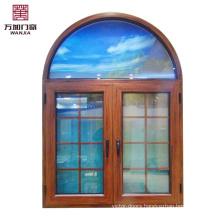 Aluminum burglar proof windows designs with safety tempered glass