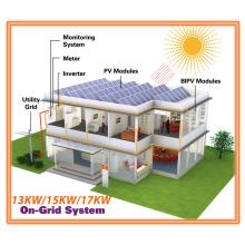Unidade completa 13kw / 15kw / 17kw Grid Tie Sistema Solar