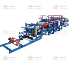 Pu foam easy operation steel sandwich panel making equipment machine manufacturer