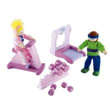 Mini brinquedos de madeira Play Gym Room