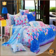 Tecido dobby twin impresso casa cama conjunto