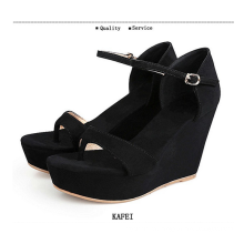 2015 new wedges lady sandals shoes