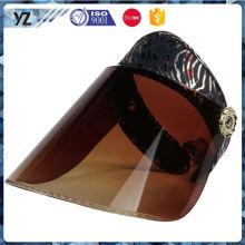 Principal producto de buena calidad sombrero de visera de sol de plástico en muchos estilo