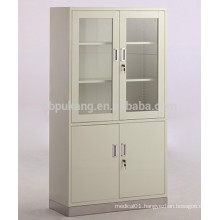 4-door appliance cupboard with stainless steel base