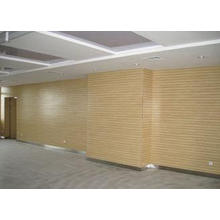 Decorative Wooden Grooved Acoustic Panel , 2440 * 128 * 15m