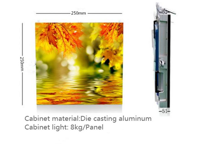Lightweight led display cabinet