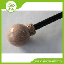 2015 gute Verkauf Marmor Vorhang Stange, Marmor Vorhang Pole, Harz Vorhang Pole, Harz Vorhang Finial