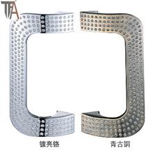 U Shape Zinc Sliding Door Handle