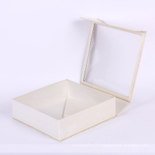 Simple design white cardboard box with window