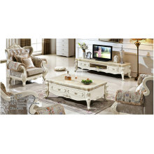 Europe Wooden Home Furniture, TV Set, Marble Coffee Table (A302)