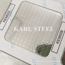 410 Stainless Steel Silver Color Embossed Kem006 Sheet
