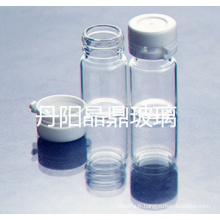 Série d'alimentation de haute qualité vissée flacon de verre clair tubulaire de Lock-up