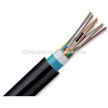 Cable de fibra óptica al aire libre blindado GYTA, cable de fibra óptica blindado de la gota de la base 12