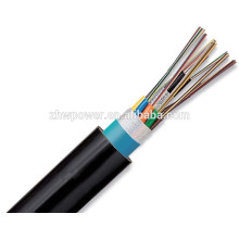 Armored outdoor fiber optic GYTA cable , 12 core drop armored optical fiber cable
