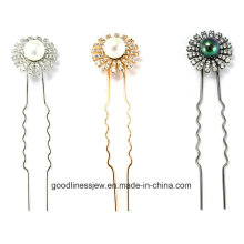New Design 925 Silver Custom Rhodium Plating Hairpin (H0003)