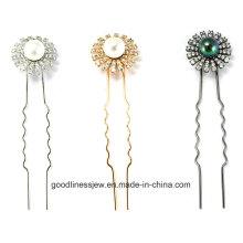 New Design 925 Prata ródio personalizado chapeamento hairpin (h0003)
