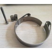 Flanges de exaustão de titânio gr2 de alta qualidade de 3 polegadas com v conjunto de braçadeira de banda