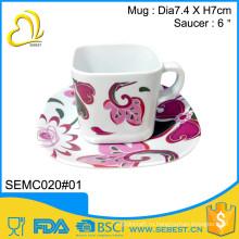 горячая продавая чашка меламина квадратный пластиковый кофе