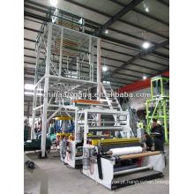 Máquina de sopro automática do FILME da co-extrusão de três camadas de 1200mm