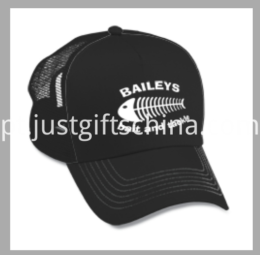 Custom Imprinted Mesh Cap Plastic Back Adjustable Closure