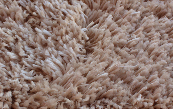 Polyester Microfiber Shaggy Rug Light Beige Color