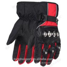 guantes de bicicleta de invierno de cuero, guantes de motocross
